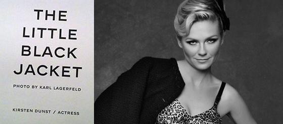 Chanel The Little Black Jacket Poster mit Kirsten Dunst by Karl Lagerfeld