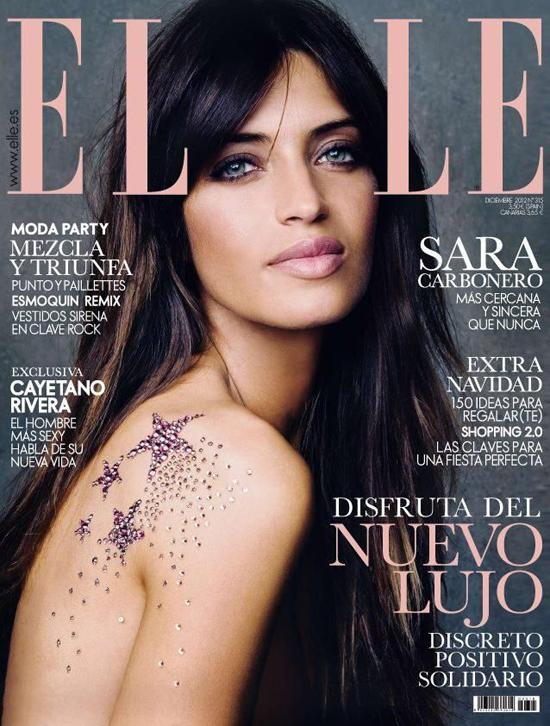 ELLE Spanien Dezember-Cover mit Sara Carbonero 1