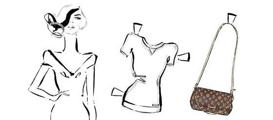 Louis Vuitton Anziehpuppen zum Ausschneiden aus Papier