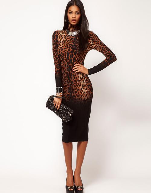 ASOS Kleid mit Leopardenmuster 01