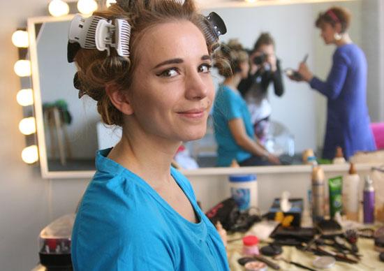 Backstage beim Freiseindesign Glamour-Fotoshooting 07