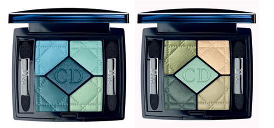 Dior 5 Coloeurs Palette Blue Lagoon und Peacock