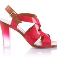 Guess Sandalette mit Plexiglas Absatz