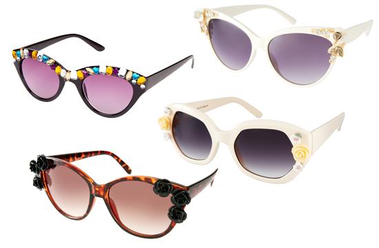 Sonnenbrillen mit Applikationen