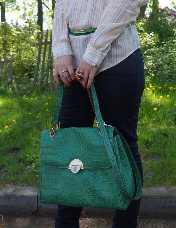 Grüne Bogner Tasche 05