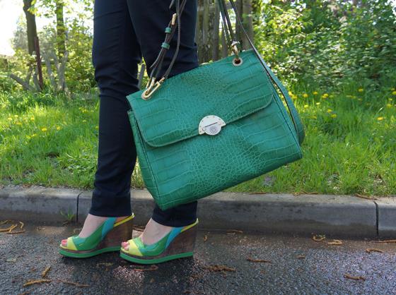 Grüne Bogner Tasche 06