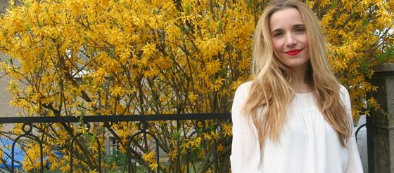 Pinke Hose von Sarah Kern über HSE24