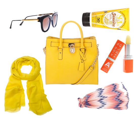 Michael Kors Tasche gelb 01
