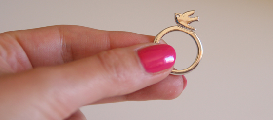 Oiseau D'Amour Bird Profile Ring von Marc by Marc Jacobs