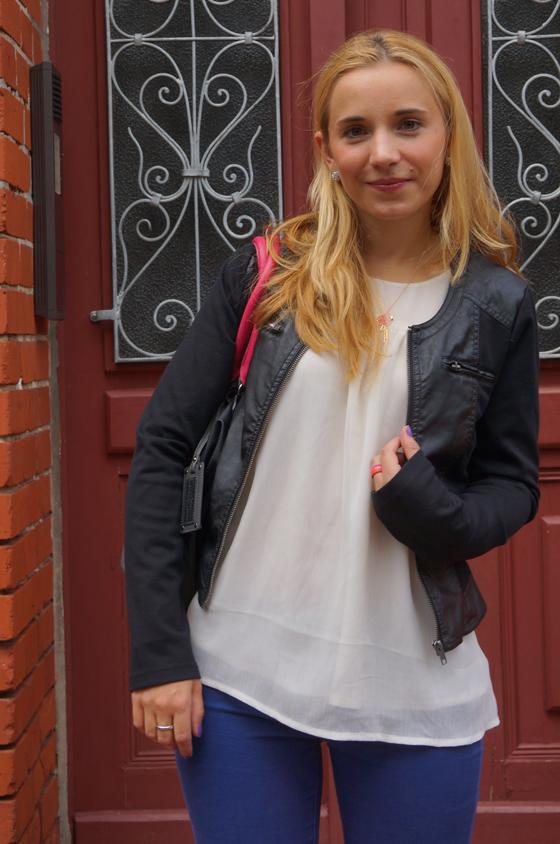 Outfit Takko Fashion Kunstlederjacke schwarz 07