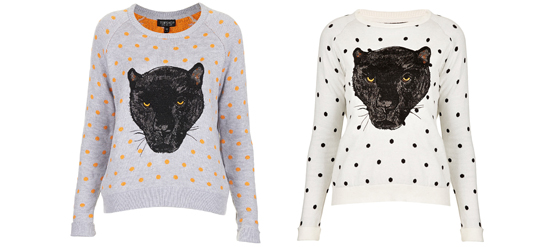 Panther Print Pullover von TOPSHOP