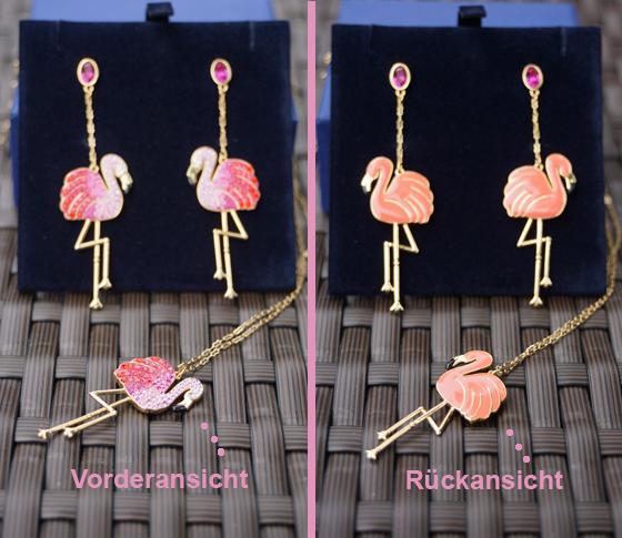 Toco Flamingo Ohrhänger Ohrringe Swarovski 01