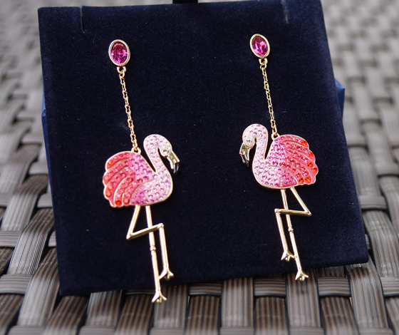Toco Flamingo Ohrhänger Ohrringe Swarovski 02