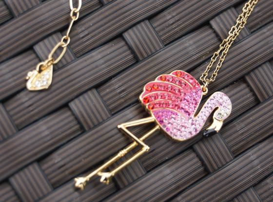 Toco Flamingo Ohrhänger Ohrringe Swarovski 04