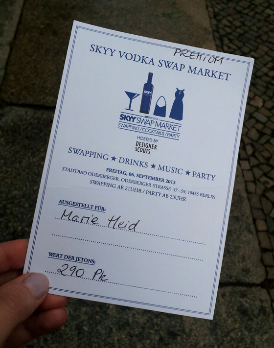 Detailinformationen zum SKYY VODKA SWAP Market am 6. September in Berlin 04