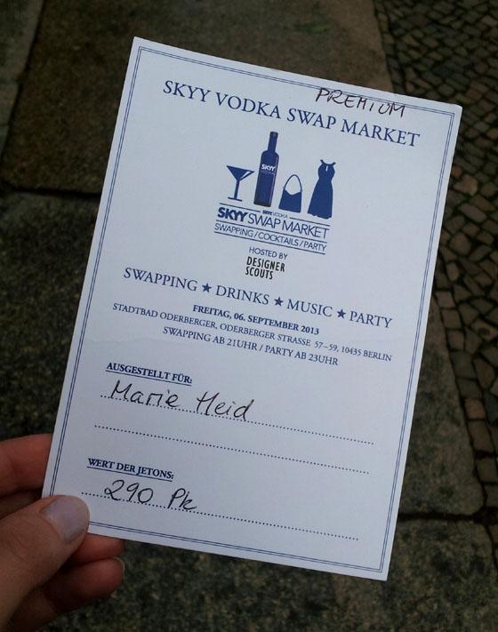 Detailinformationen zum SKYY VODKA SWAP Market am 6. September in Berlin 04