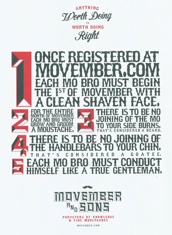Regeln Movember
