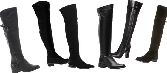 schwarze sexy Overknee Stiefel