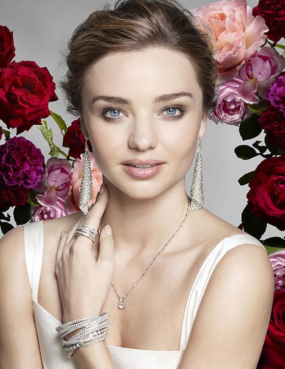 Supermodel Miranda Kerr Swarovski Schmuck Kampagne