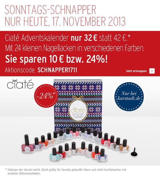Ciaté X-Mas Adventskalender Mini Mani Month Karstadt