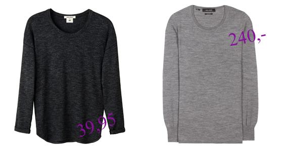 Isabel Marant pour H&M vs Isabel Marant Pullover