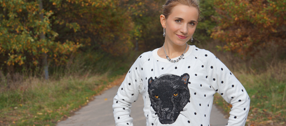 Statement Pullover Sweater Pulli Panther