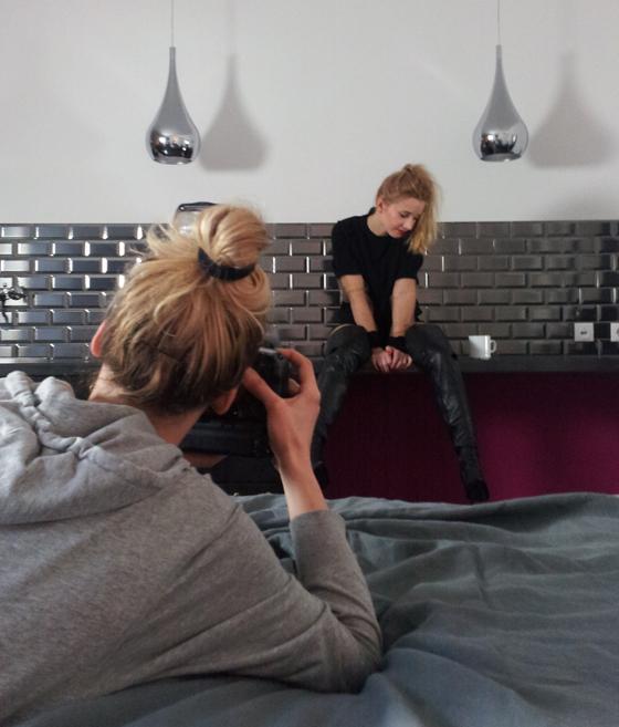 Backstage beim Fernando Berlin Boots Fotoshooting 01