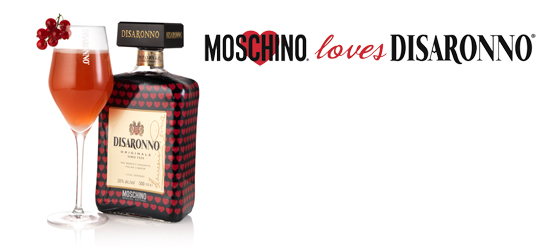 Flasche Moschino loves DISARONNO Limited Edition