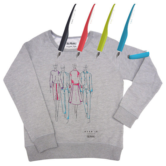 Berlin Fashion Week Herlitz my pen style Füllhalter Limited Edition Sweatshirt Hien Le
