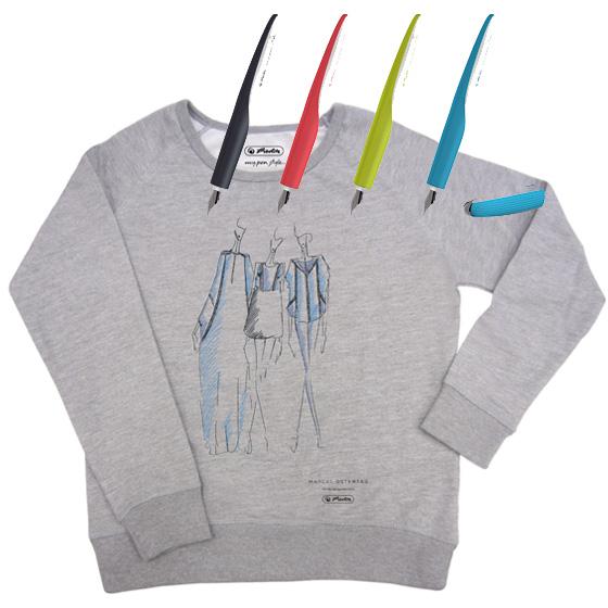 Berlin Fashion Week Herlitz my pen style Füllhalter Limited Edition Sweatshirt Marcel Ostertag