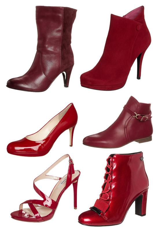 Schuhe zum Valentinstag in rot