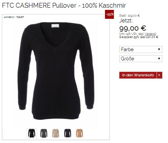 FTC Fair Trade Cashmere Pullover bei designertraum com
