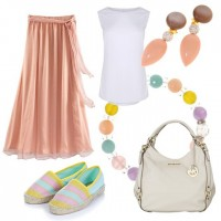 Pastell Sommer Outfit