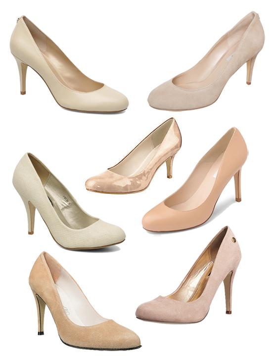 Schuhe nudefarbene beige beigefarbene Pumps in Nude