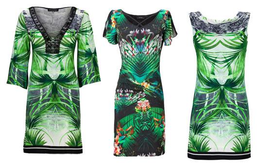 tropische urlaubsstimmung exotischer palmenprint auf kleider. Black Bedroom Furniture Sets. Home Design Ideas