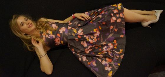 Gala Outfit Blumenkleid 01