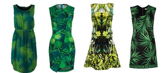 Kleider mit Palmenprint Palmenmuster