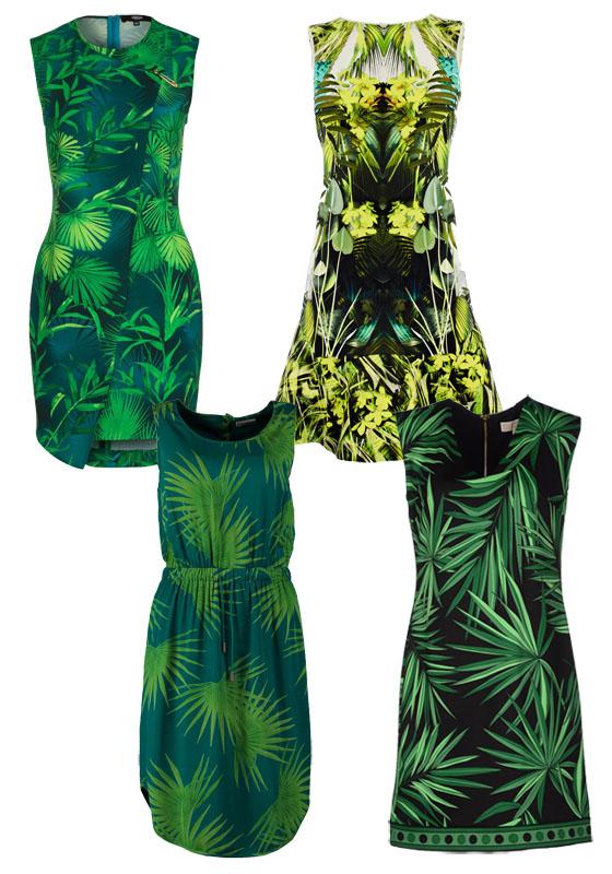 Palmenprint Palmenmotive Kleider