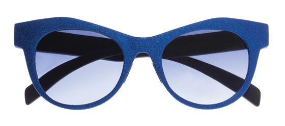 dunkelblaue Sonnenbrille I-Stardust von Italia Independent