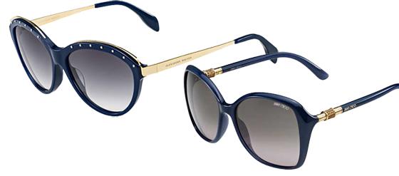 dunkelblaue Sonnenbrillen Luxus