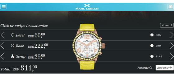 Marc Coblen Uhr gelb
