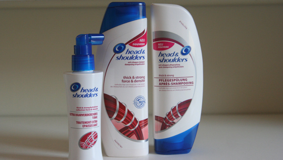 head & shoulders thick&strong Kollektion 01