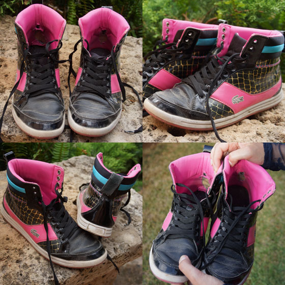 Meine alten Sneaker von Lacoste