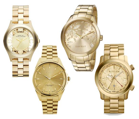 Goldene Armbanduhren 02