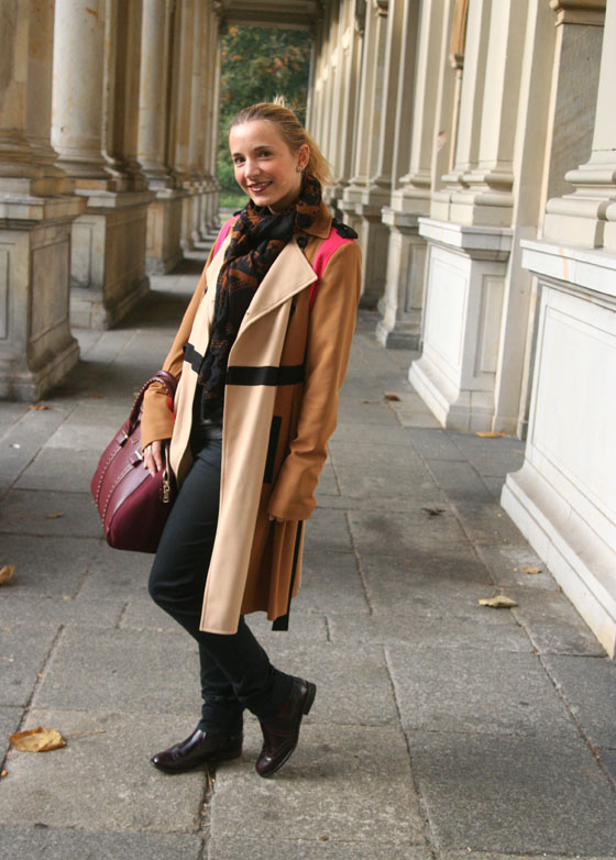 Herbst Outfit Bordeaux Rot 02