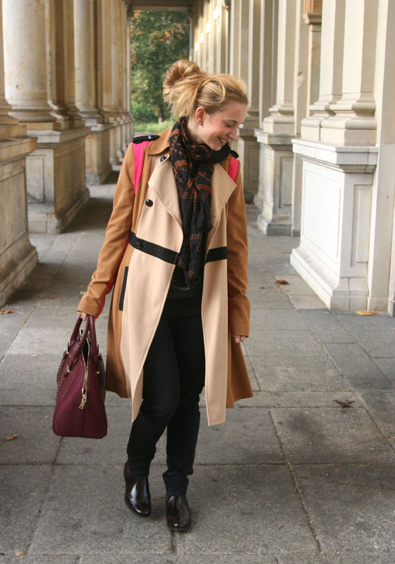Herbst Outfit Bordeaux Rot 03