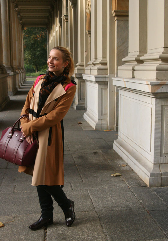 Herbst Outfit Bordeaux Rot 04