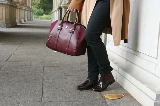 Herbst Outfit Bordeaux Rot 05