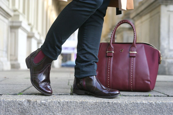 Herbst Outfit Bordeaux Rot 06