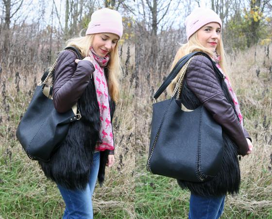 Laura Scott Weste und Tasche Outfit 06